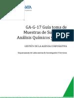 GA-G-17 Guía toma de muestra suelo para análisis químicos y físicos