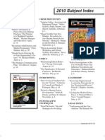 FBI Law Enforcement Bulletin - December 2010 Index