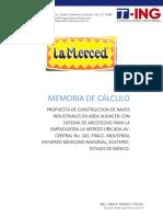 MEMORIA DE CALCULO ARCOTECHO LA MERCED