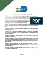 Miami-Dade County Coronavirus Emergency Order