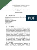 Programa LA CULTURA LATINOAMERICANA Y CARIBEÑA COMO OBJETO DE UNVESTIFACIÓN UPEL-IPB 2020