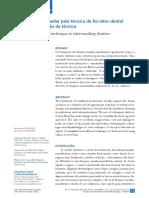 Artigo Bloqueio inter-maxilar com a técnica do fio calibroso