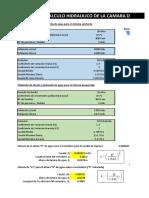 Cálculo hidráulico Cámara Repartidora de Ccaudales