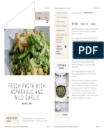 Fresh Pasta with Asparagus and Wild Garlic | Daylesford