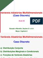 Aula 04 - VAs Multidimensionais - Discretas