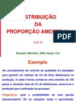 Aula 16 - Distribuição Proporção Amostral