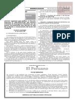 Decreto Supremo N° 046-2020-PCM