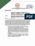 DILG Memorandum Dated March 17