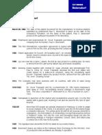 BDF Timeline