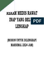 JUDUL REKAM MEDIS RAWAT INAP YANG BELUM LENGKAP