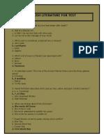 ENGLISH LITERATURE MCQS FOR TEST PREPARATION