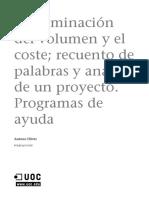 Gestión de proyectos de traducción_Módulo4_Determinación del volumen y el coste; recuento de palabras y análisis de un proyecto. Programas de ayuda
