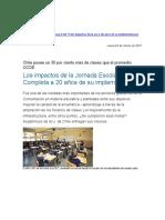 UCHILE Los impactos de la Jornada Escolar Completa a 20 años de su implementación