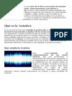 acustica eco reberverancia