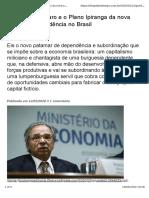Texto Carlos Eduardo Martins - Paulo Guedes e Bolsonaro