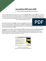 Como crear archivos MP3 con LAME - Lisandro Pardo - 2008