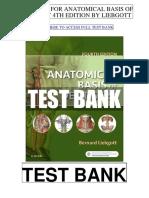 Anatomical Basis Dentistry 4th Liebgott Test Bank