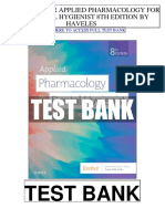 Applied Pharmacology Dental Hygienist 8th Haveles Test Bank