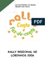 Programação Rally de Lobinhos  2006