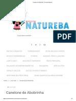Canelone de Abobrinha - Receita Natureba