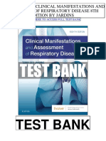 Clinical Manifestations Assessment Respiratory Disease 8th Jardins Test Bank