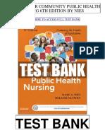Community Public Health Nursing 6th Nies Test Bank