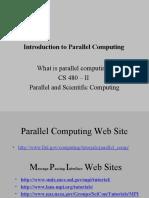 Intro Parallel Computing