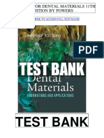 Dental Materials 11th Powers Test Bank