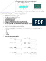 Guía de Trabajo 4to. BACO /  Matemática