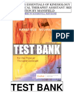 Essentials Kinesiology Physical Therapist Assistant 3rd Mansfield Test Bank