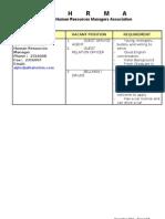 Hhrma Vacancy List - Dec'10 (Part 2)