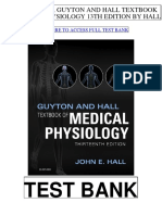 Guyton Hall Textbook Medical Physiology 13th Hall Test Bank