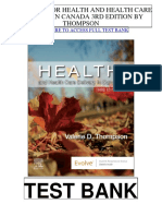 Health Health Care Delivery Canada 3rd Thompson Test Bank
