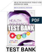 Health Insurance Today 6th Beik Test Bank