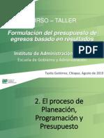 curso taller de Planeación, Programación y Presupuesto