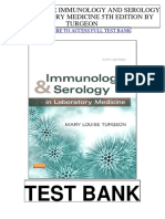 Immunology Serology Laboratory Medicine 5th Turgeon Test Bank