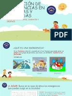 PREVENCIÓN DE EMERGENCIAS EN ESCUELAS Y VIVIENDAS - COMUNIDADES