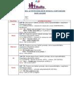 PLANIFICAREA ACTIVITĂŢILOR 30.09-4.10