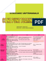 SCRISOAREA SAPTAMANALA   16.10-20.10.2017