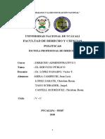 EL SERVICIO PÚBLICO DERECHO