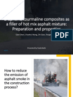 How to reduce the emission of asphalt smoke in the construction process?