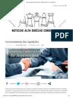 Gerenciamento das Aquisições - Noticias Alta Direcao Consultores