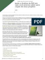 Projeção e análise de ROI em Projetos_ o guia completo!
