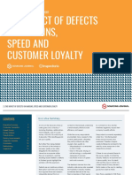 THE IMPACT OF DEFECTS on Margins, speed and customer loyalty