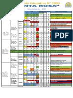 calendarizacion secundaria  2020