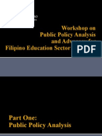 Workshop on Public Policy Analysis and Advocacy for Education Sector Managers