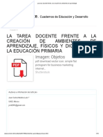 01 La tarea docente frente a la creación de ambientes de aprendizaje