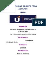 TAREA 3. HIS. DE AME4RICA Y EL CARIBE 1