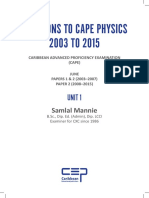 Solutions to CAPE Physics 2003 TO 2015 Unit 1.pdf