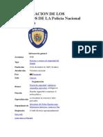 CLASIFICACION DE LOS SERVICIOS DE LA Policía Nacional Bolivariana